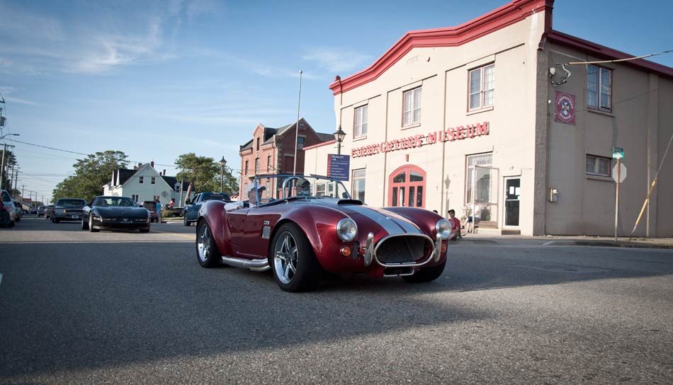 Red with White Stripes Roadster