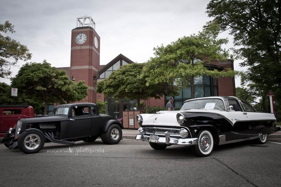 Antique Cars in Front of Town Hall