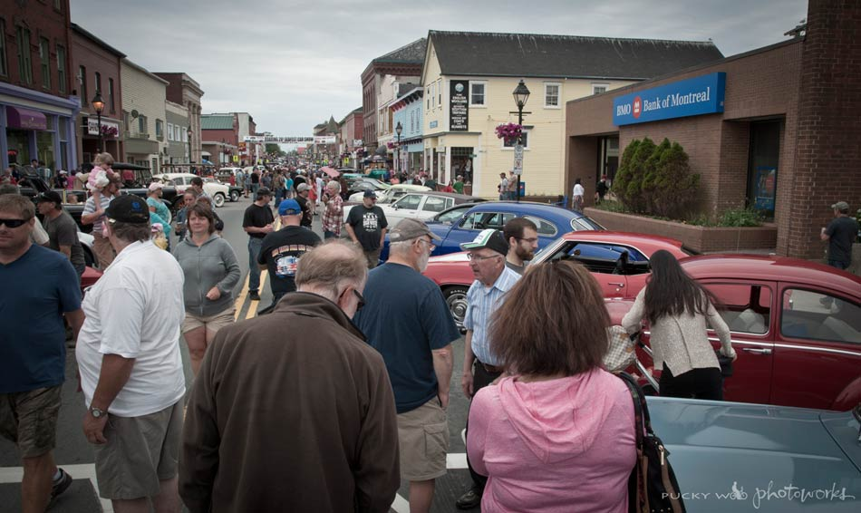Crowd at the Car Show