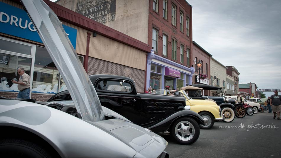 Antique Cars Lined Up